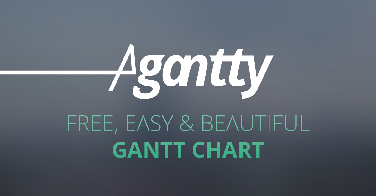 Free gantt chart! Free Project Management Tool Agantty  Use